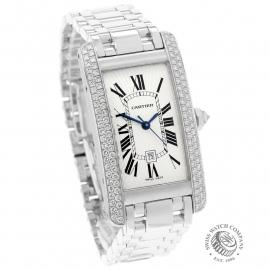 CA22213S Cartier Ladies Tank Americaine White Gold Dial
