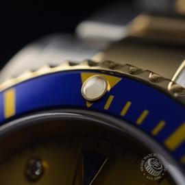 RO20657S Rolex Submariner Date Diamond and Sapphire Dial Close9