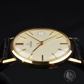 OM19632S Omega Vintage 9ct Gents Dress Watch Close8