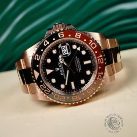 RO22050S Rolex GMT-Master II 18ct Everose Gold Close10