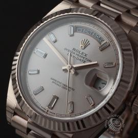 RO22329S Rolex Day-Date 40 Everose Diamond Unworn Close1
