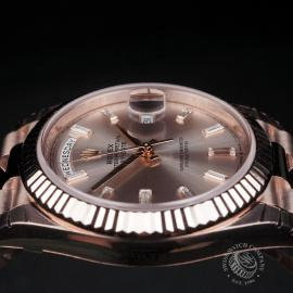 RO22329S Rolex Day-Date 40 Everose Diamond Unworn Close6