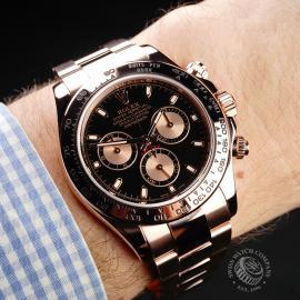 RO22074S Rolex Daytona Everose Gold Wrist