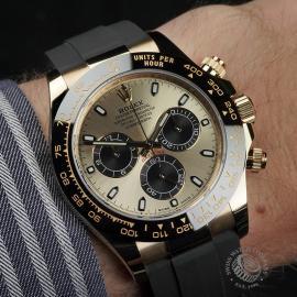 RO22580S Rolex Cosmograph Daytona 18ct Gold Cerachrom Unworn Wrist