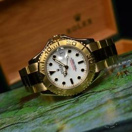 RO21031S Rolex Yachtmaster Mid Size 18ct Close11