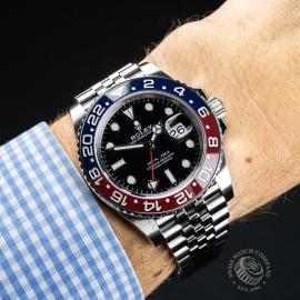 RO21783S Rolex GMT Master II BLRO Wrist
