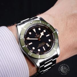 21807S Tudor Black Bay Harrods Wrist