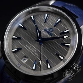 OM21203S Omega Seamaster Aqua Terra Co-Axial Master Chronometer Close2
