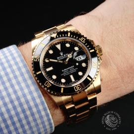 RO22317S Rolex Submariner Date 18ct Yellow Gold Wrist