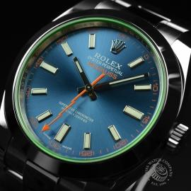 RO21189S Rolex Milgauss Anniversary - Green Glass Close2