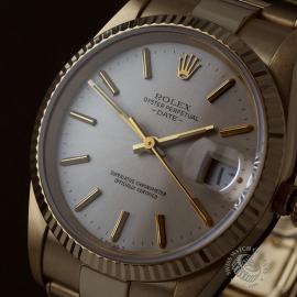 RO22533S Rolex Date 18ct Gold Close2