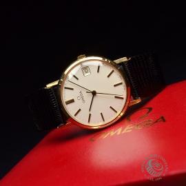 OM19632S Omega Vintage 9ct Gents Dress Watch Close10