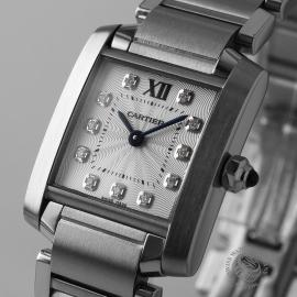 CA21054S Cartier Ladies Tank Francaise Small Model Close1
