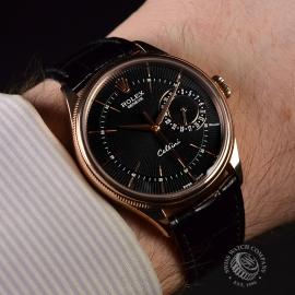 21396S Rolex Cellini Date 18ct Everose Wrist 3