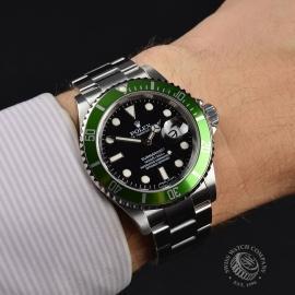 RO21193S Rolex Submariner Date Green Bezel Anniversary Wrist