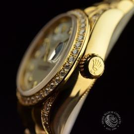RO21016S Rolex Ladies Datejust 18ct Close3
