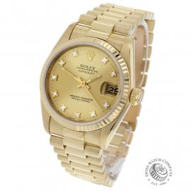 RO21949S Rolex Datejust 18ct Mid-Size Back 1