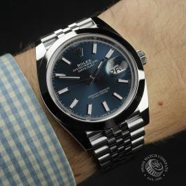 RO22342S Rolex Datejust 41 Unworn Wrist 1