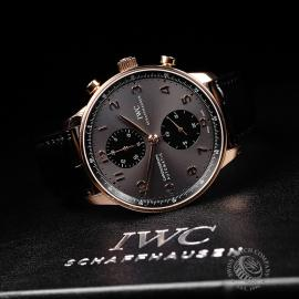 IW21979S IWC Portuguese 18ct Chronograph Close10