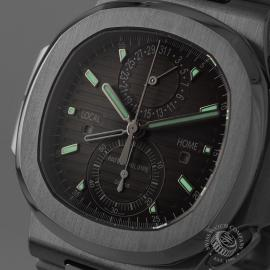 PA21109S Patek Philippe Nautilus Travel Time Chronograph Close1