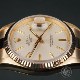 RO22533S Rolex Date 18ct Gold Close8