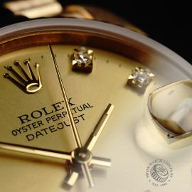 RO21949S Rolex Datejust 18ct Mid-Size Close6
