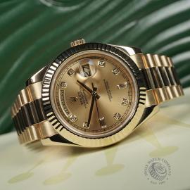 RO22541S Rolex Day-Date II 18ct Close10