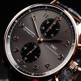 IW21979S IWC Portuguese 18ct Chronograph Close2