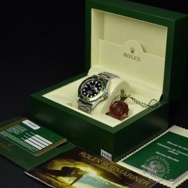 RO21193S Rolex Submariner Date Green Bezel Anniversary Box