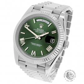 RO22121S Rolex Day-Date 40 White Gold Back