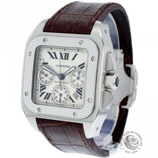 3823d83ed13 Cartier Santos 100 Chronograph Watch - W20090X8 - Ref  - Cartier ...