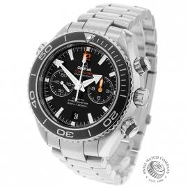 OM21024S Omega Seamaster Planet Ocean 600m Co Axial Chrono Back