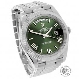 RO22121S Rolex Day-Date 40 White Gold Dial