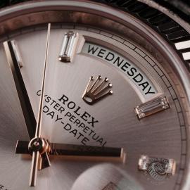 RO22329S Rolex Day-Date 40 Everose Diamond Unworn Close3