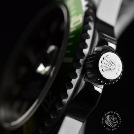 RO21193S Rolex Submariner Date Green Bezel Anniversary Close3