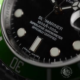 RO21193S Rolex Submariner Date Green Bezel Anniversary Close6 1