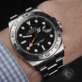 RO22374S Rolex Explorer II Orange Hand Wrist 1