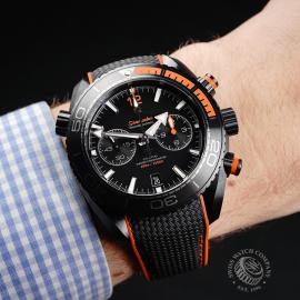 OM22262S Omega Seamaster Planet Ocean Chronograph 'Deep Black' Wrist