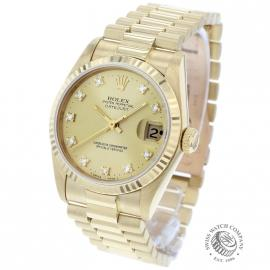 RO21249S Rolex Datejust 18ct Midsize Back