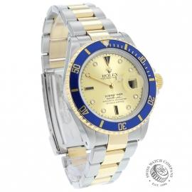 RO20657S Rolex Submariner Date Diamond and Sapphire Dial Dial