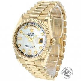 Rolex Day Date 18ct Gold Diamond Dot
