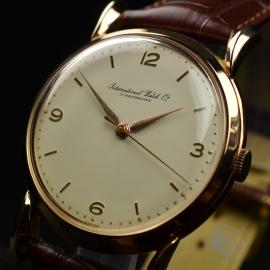 IWC600F International Watch Company Vintage 18ct Close1