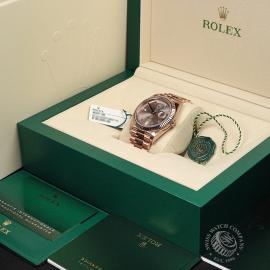 RO22329S Rolex Day-Date 40 Everose Diamond Unworn Box