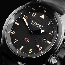 BM21731S Bremont U-2 Black Jet Pilot Watch Close2