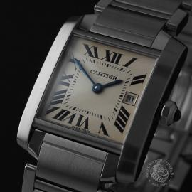 CA21842S Cartier Tank Francaise Midsize Close1