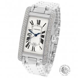 CA22213S Cartier Ladies Tank Americaine White Gold Back