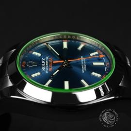 RO21189S Rolex Milgauss Anniversary - Green Glass Close8 1