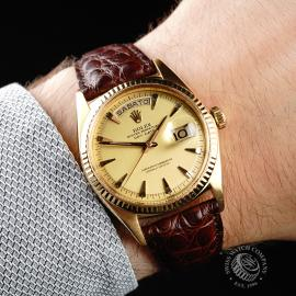 RO645F Rolex Day Date 18ct Wrist 1
