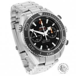 OM21024S Omega Seamaster Planet Ocean 600m Co Axial Chrono Dial