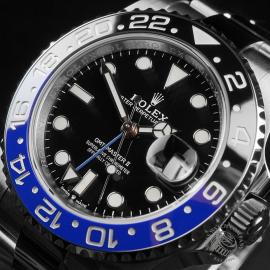 RO22681S Rolex GMT Master II 'Batman' Close2